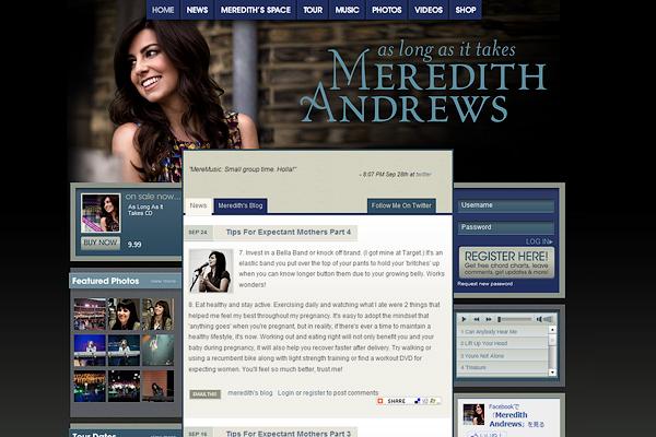 メレディス・アンドリュース公式サイト