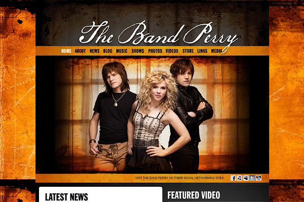 The Band Perry公式サイト