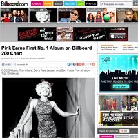 ピンク、最新作『Truth About Love』自身初全米ビルボード初登場第1位、今年3番目最多デビューセールス記録